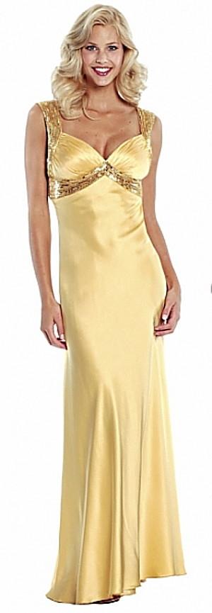 Vestidos dorados largos para gorditas