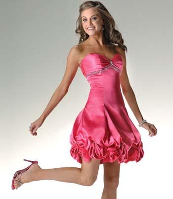 Como hacer vestidos de fiesta cortos globo