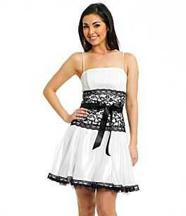 Vestidos de fiesta blanco y negro cortos