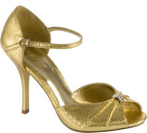 sandalias doradas para fiesta