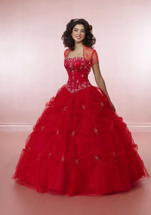 Baño Con Refresco Rojo:Sweet Sixteen Dresses