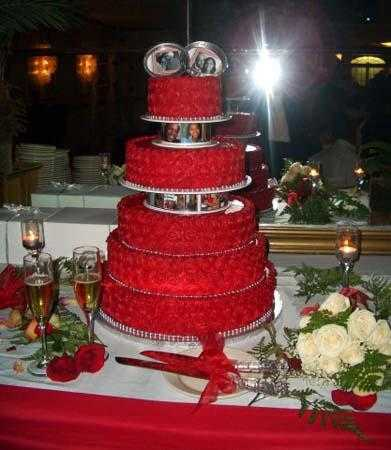 Red Colour Cake Images : Tortas Chica de 15