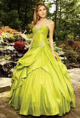 Vestidos de graduacion verde limon