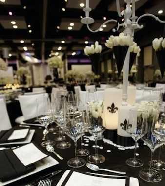 Ideas de decoraci n en blanco y negro para fiesta de 15 - Decoracion salon blanco y negro ...