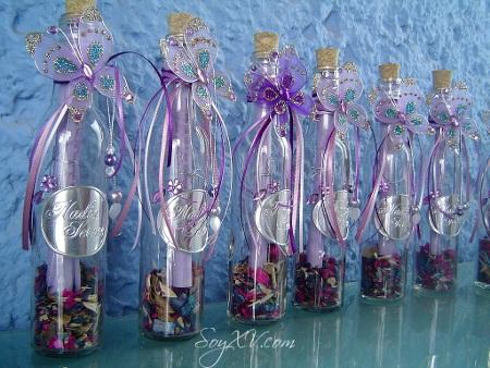 Invitaciones en botella para tu fiesta de 15 | Chica de 15